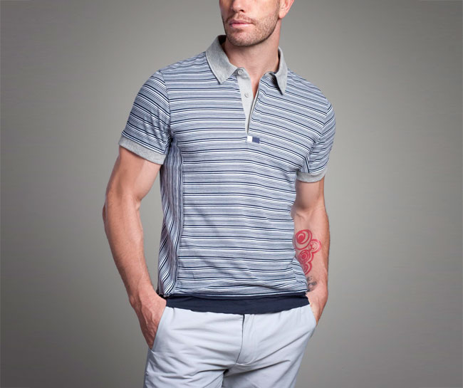 The Striped Ringer Polo Shirt